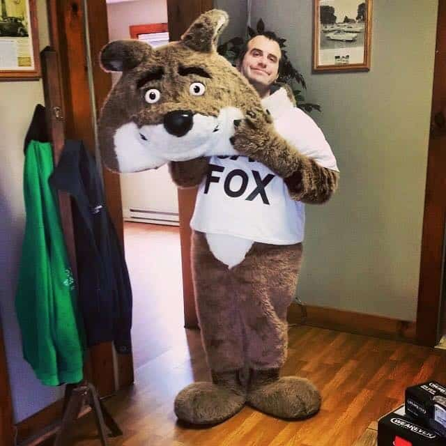 Dan Fife as the Car Fox Advertising Mascot at AutoFinders in Laconia, NH