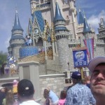 Dan Fife watching a show at Cinderella's Castle