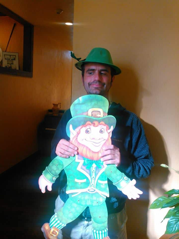 Dan Fife as the Leprechaun Mascot for the Holy Grail in Laconia, NH